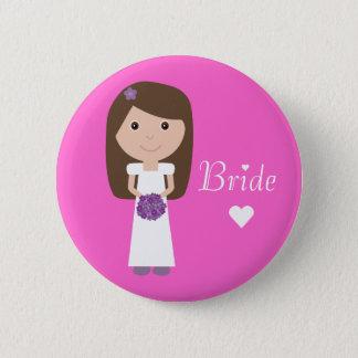 Cute Cartoon Bride Button