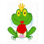 cute cartoon bride froggy frog postcard