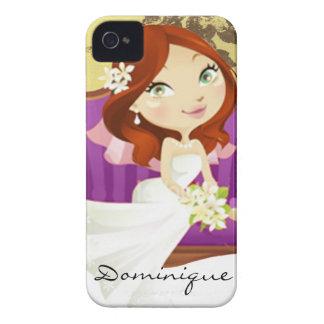 Cute Cartoon Bride iPhone 4 Case