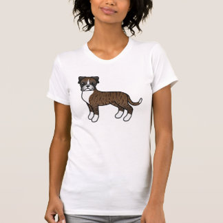 Cute Cartoon Brindle Boxer Dog T Shirt