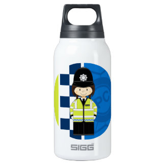 Cute Cartoon British Policeman Insulated Water Bottle