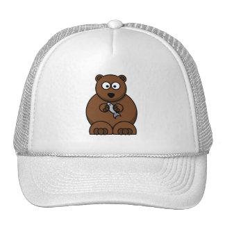 Cute Cartoon Brown Bear Mesh Hat