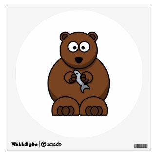Cute Cartoon Brown Bear Room Sticker