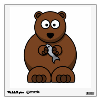 Cute Cartoon Brown Bear Room Decals