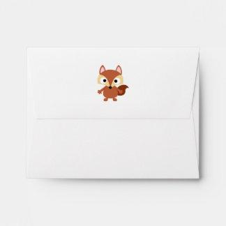 Cute Cartoon Brown Bushy Tail Raccoon Envelope
