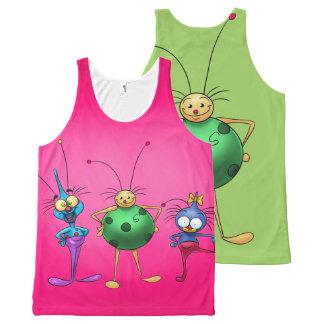 cute Cartoon bug tank top shirt