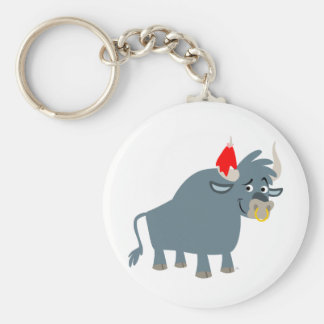 Cute Cartoon Bull keychain
