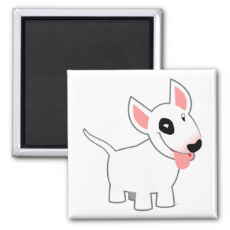 Cute Cartoon Bull Terrier Magnet