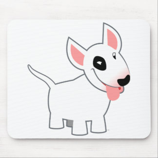 Cute Cartoon Bull Terrier Mousepad
