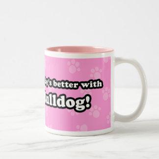 Cute Cartoon Bulldog Mug