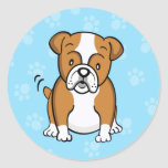 Cute Cartoon Bulldog Sticker