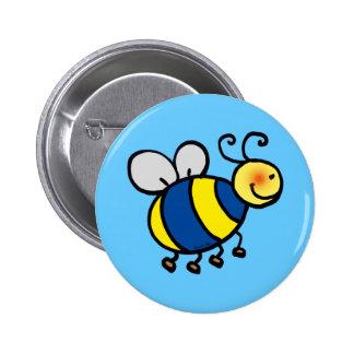 Cute cartoon bumble bee button