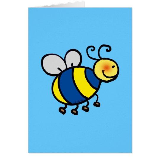Cute cartoon bumble bee card