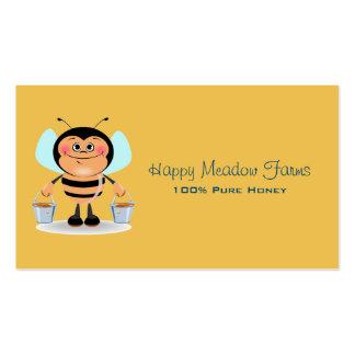 Cute Cartoon Bumble Bee Carrying Buckets of Honey Business Card