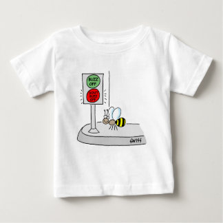 Cute Cartoon Bumble Bee Waits At Red Stop Light Baby T-Shirt