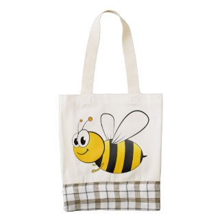 Cute Cartoon Bumble Bee Zazzle HEART Tote Bag