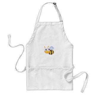 CUTE CARTOON BUMBLEBEE BEE HONEYBEE smiling orange Adult Apron