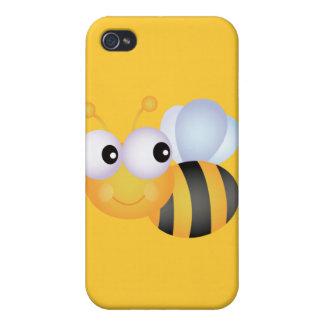 CUTE CARTOON BUMBLEBEE BEE HONEYBEE smiling orange Covers For iPhone 4