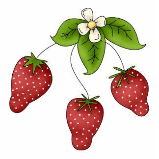 Cute Cartoon Bunch of Fruit Strawberries Design Standing Photo Sculpture