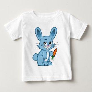 Cute Cartoon Bunny Holding Carrot Baby T-Shirt