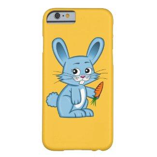 Cute Cartoon Bunny Holding Carrot iPhone Case
