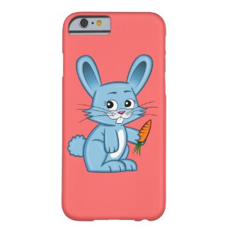 Cute Cartoon Bunny Holding Carrot Barely There iPhone 6 Case