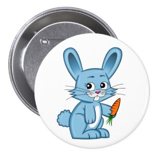 Cute Cartoon Bunny Button