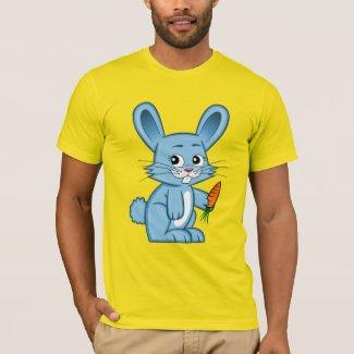 Cute Cartoon Bunny Holding Carrot Men's T-Shirt