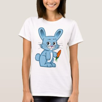 Cute Cartoon Bunny Holding Carrot Women's T-Shirt