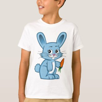 Cute Cartoon Bunny Holding Carrot Kid's T-Shirt
