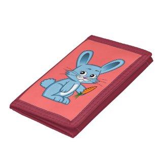 Cute Cartoon Bunny Holding Carrot Wallet