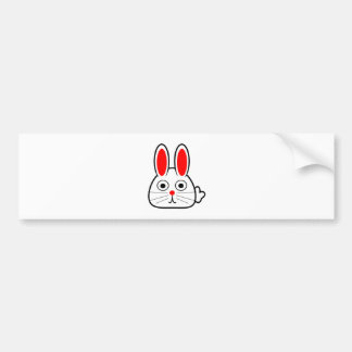Cute Cartoon Bunny Rabbit Bumper Sticker
