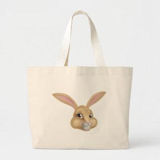 Cute Cartoon Bunny Rabbit Large Tote Bag