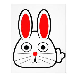 Cute Cartoon Bunny Rabbit Custom Letterhead