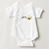 Cute Cartoon Busy Little Bee Baby Bodysuit