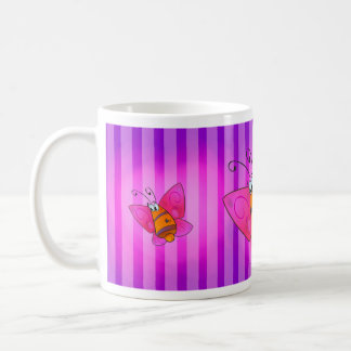cute cartoon butterfly mug