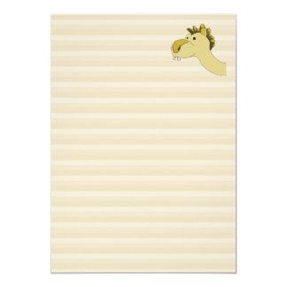 Cute Cartoon Camel 5x7 Paper Invitation Card