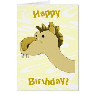 Cute Cartoon Camel. Birthday Greeting Card