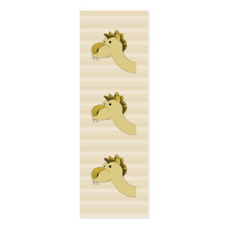 Cute Cartoon Camel Double-Sided Mini Business Cards (Pack Of 20)