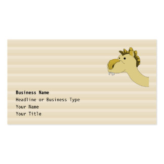 Cute Cartoon Camel Double-Sided Standard Business Cards (Pack Of 100)