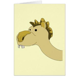 Cute Cartoon Camel Greeting Card