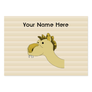 Cute Cartoon Camel Large Business Cards (Pack Of 100)