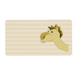 Cute Cartoon Camel Shipping Label