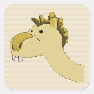 Cute Cartoon Camel Square Sticker