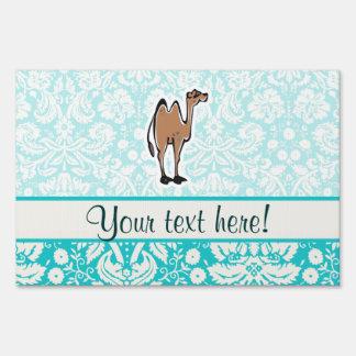 Cute Cartoon Camel Lawn Sign