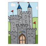Cute Cartoon Castle Card