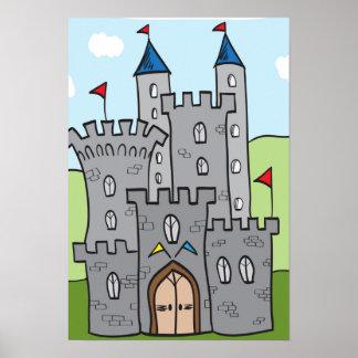 Cute Cartoon Castle Poster