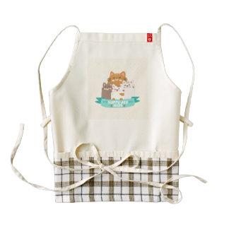 Cute cartoon cat family happy mother's day zazzle HEART apron