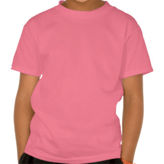Cute cartoon cat jumping in a puddle pink T-shirt