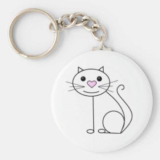 Cute cartoon cat keyring